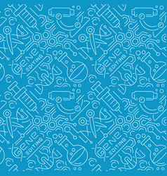 seamless background for gene engineering theme vector image
