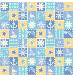 Seamless background for kids Baby fabric vector
