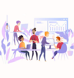 startup young business team concept vector image