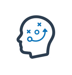 Thinking strategic planning icon vector