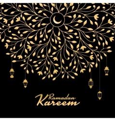 Traditional ramadan kareem month celebration vector image