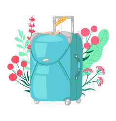 travel bag luggage for trip vector image