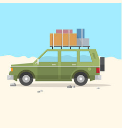 travel car suv - road trip vector image