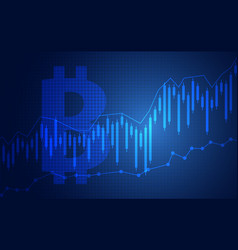 trend of graph design trading bitcoin vector image