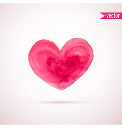 Watercolor heart for Valentines day designs vector