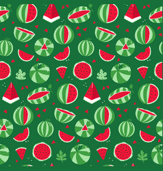 watermelon seamless pattern whole striped vector image
