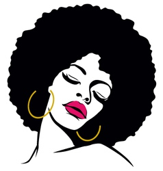 afro woman vector image vector image