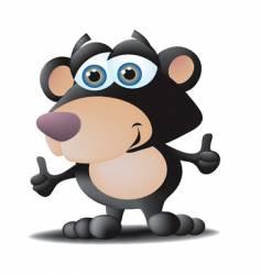 black bear vector image
