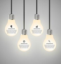 Creative 3d light bulb infographics design vector