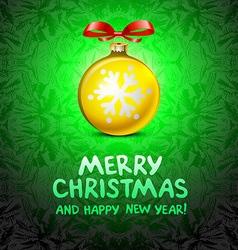 Golden realistic Christmas balls yellow vector image