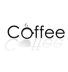 logo coffee2 vector image vector image