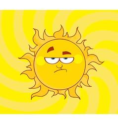 Lowering Sun Shining vector image vector image