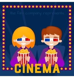 Moviegoers vector image vector image