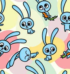 pattern with hares vector image vector image