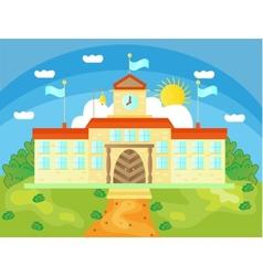 Picture of school buildings vector image vector image