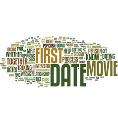 first dates skip the movie and popcorn text vector image vector image