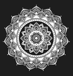 mandala indian antistress medallion abstract vector image vector image