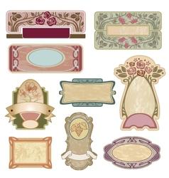 Ornate vintage labels vector image