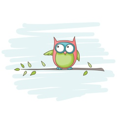 owl sitting vector image
