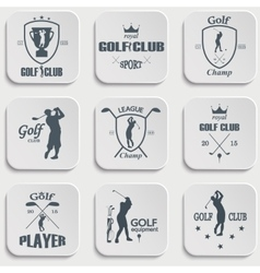 Set of vintage golf labels vector image