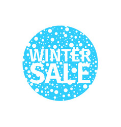 winter sale banner in the form of a blue ball vector image