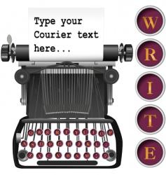 antique typewriter vector image