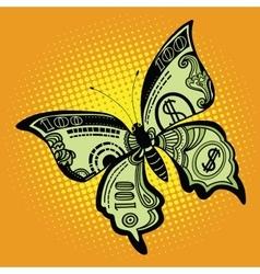 Butterfly dollar bill vector image