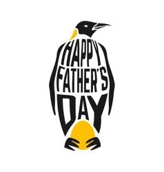Concept congratulation with penguin vector image