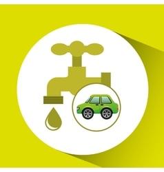 eco car icon environment water vector image