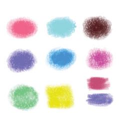 grunge brush stroke texture backgrounds set of vector image