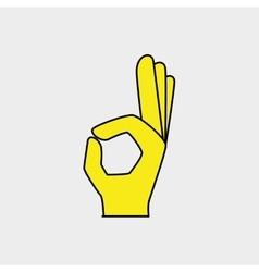 hand ok gesture vector image
