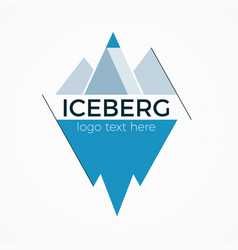 iceberg logo concept vector image vector image