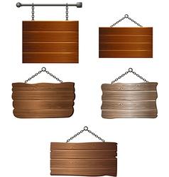 Set of Wooden board vector image