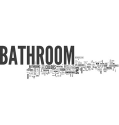 bathroom from over the moon part one text word vector image vector image