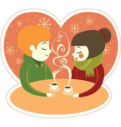 Coffee for two vector image vector image