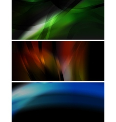 dark wavy banners collection vector image vector image