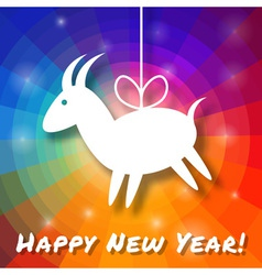Goat paper on bright colorful rainbow background vector