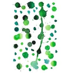 Green watercolor splashes vector image vector image