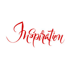 inspiration brush hand lettering vector image vector image