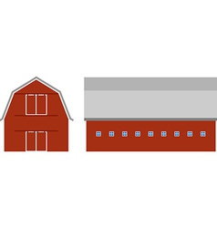 Red barn vector image