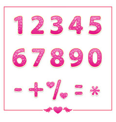 shiny bright colored number set vector image vector image