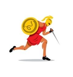 Spartan Warrior Cartoon vector image vector image