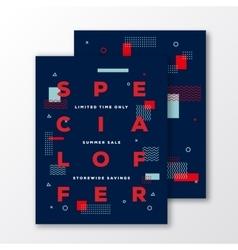 Summer Sale Special Offer Poster Card or Flyer vector image