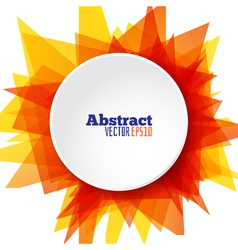 Abstract sun round template background vector image