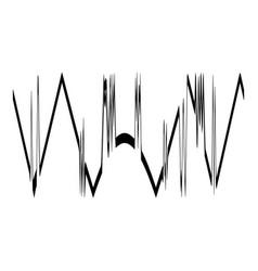Audio equalizer design icon simple black style vector