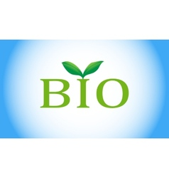 Bio word with green plant vector image