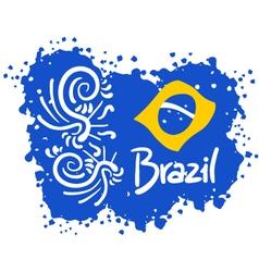 Brazil sport art vector