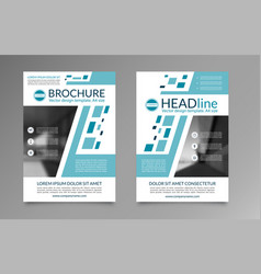 business brochure layout template vector image