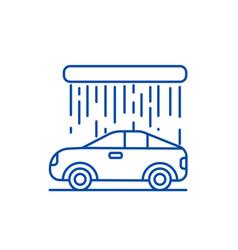 car wash line icon concept car wash flat vector image
