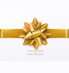 Christmas background white gift box with golden vector